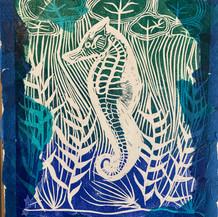 Lino print seahorse.mp4