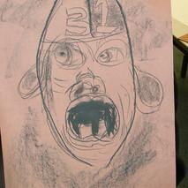 Yr 7, Gargoyle drawing