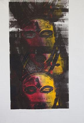 Mask, Gabon, Ghost Print