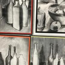 Bottles charcoal