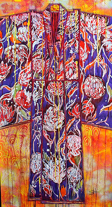 Protea Blue Kimono