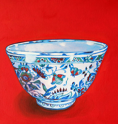 Chinese Bowl on Red