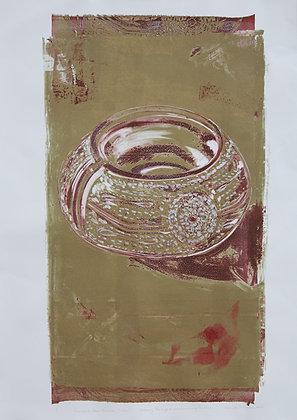 Embossed Metal Bracelet, India