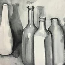 Bottles watercolour