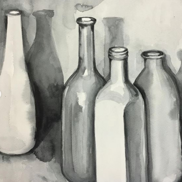 Bottles watercolour