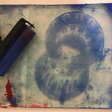 Gelli printing in ASA