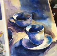 Cups watercolour