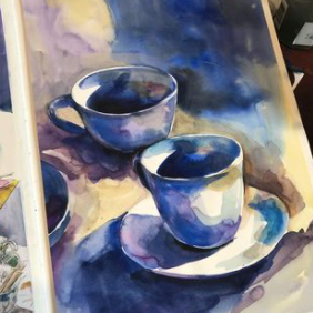 Cups watercolour