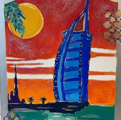 Drama design canvas painting