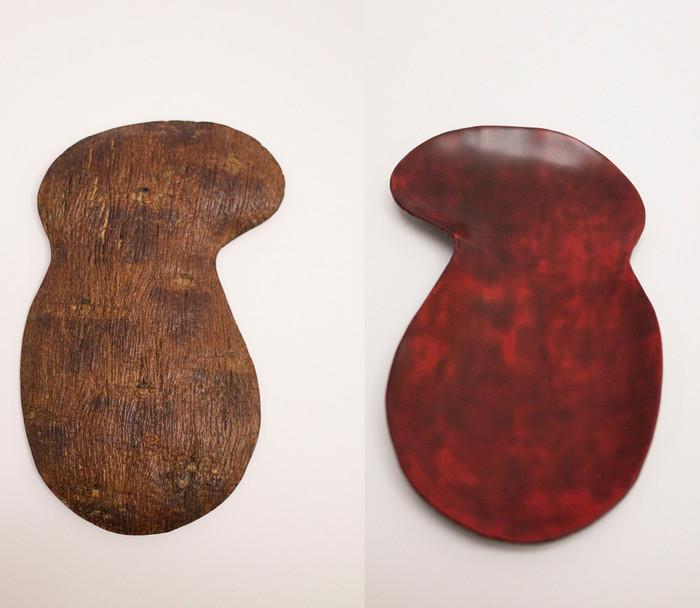 bark cloth plate