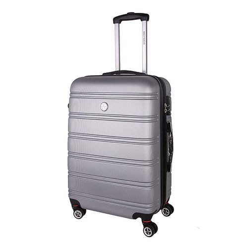 World Traveler Montreal Carry-On Hardside Spinner Luggage Set - Silver