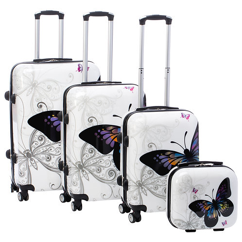 Butterfly 4-pc Hardside Spinner Luggage Set