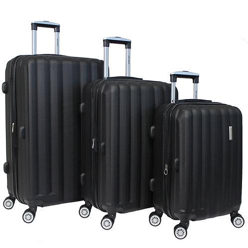World Traveler Adventure 3-piece Hardside Spinner Luggage Set