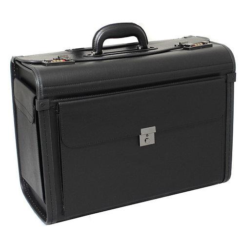 World Traveler Letherette Business Catalog Sample Pilot Case - Black
