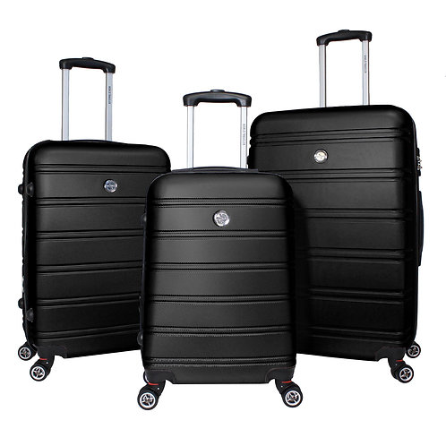World Traveler Montreal 3-piece Expandable Hardside Spinner Luggage Set