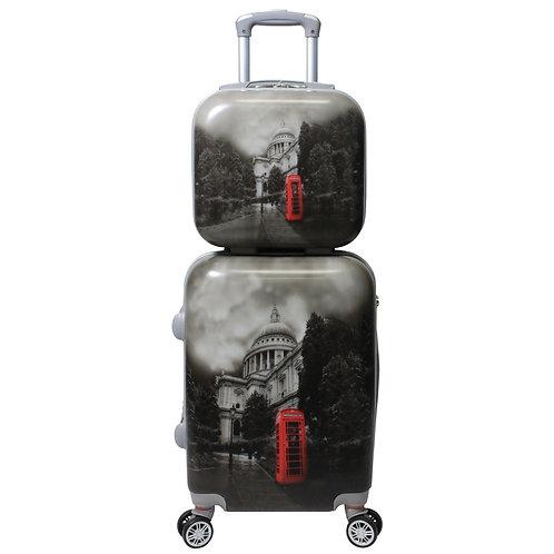 World Traveler Destination 2-Piece Carry-on Hardside Spinner Set - London