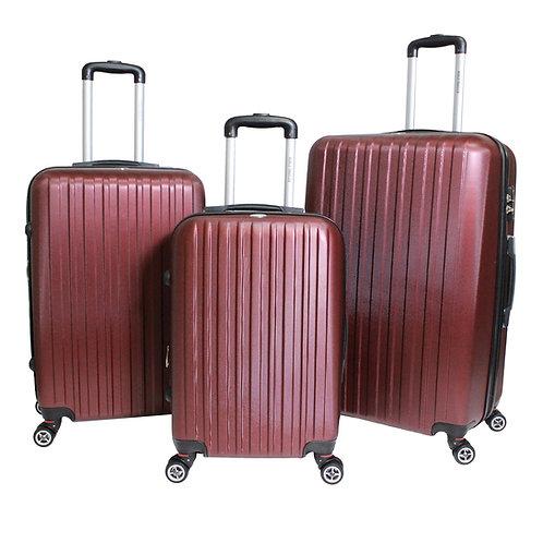 World Traveler Barcelona 3-piece Hardside Spinner Luggage Set - Burgundy
