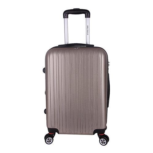 World Traveler Barcelona Carry-On Hardside Spinner Luggage Set - Champagne