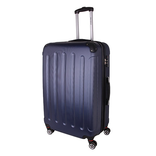 World Traveler Milan Collection Carry-On Hardside Spinner Luggage Set - Blue