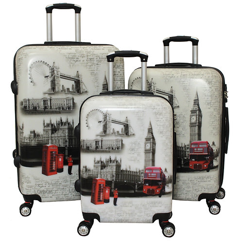 World Traveler London 3-Piece TSA Lock Hardside Spinner Luggage Set
