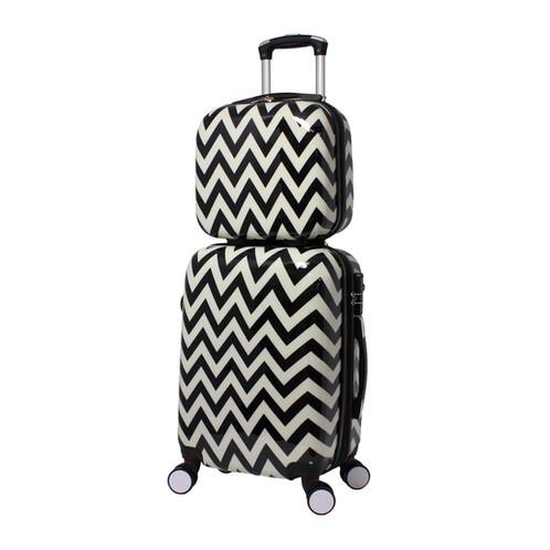 12e14c96f World Traveler Chevron 2-Piece Hardside Carry-on Spinner Luggage Set