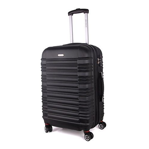 World Traveler California II Carry-On Hardside Spinner Luggage Set - Black