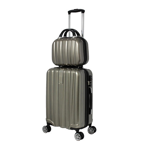World Traveler Monaco 2-Piece Expandable Carry-On Spinner Luggage Set - Copper