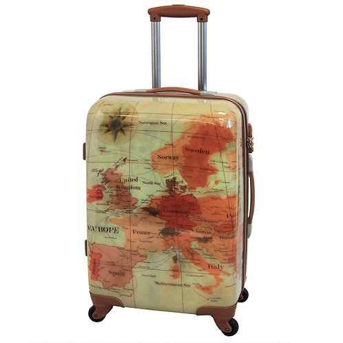 World Traveler Euro Carry-On Hardside Spinner Luggage