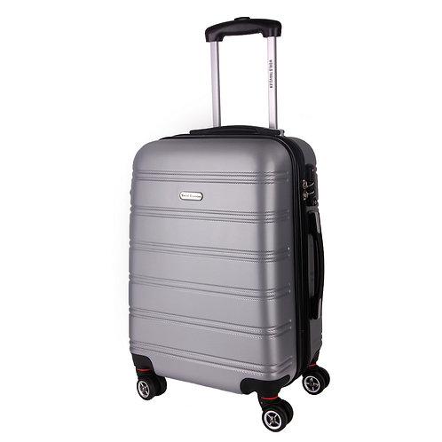 World Traveler Hardside Bristol ll Carry-On Spinner Luggage - Silver