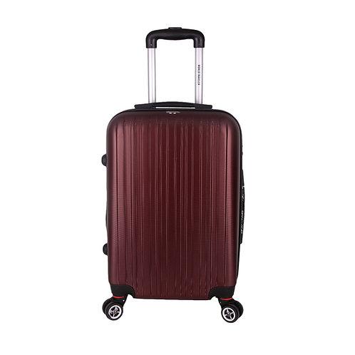World Traveler Barcelona Carry-On Hardside Spinner Luggage Set - Burgundy