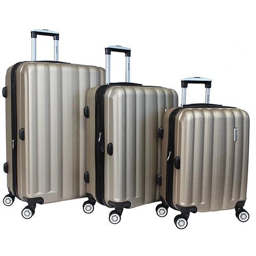 World Traveler Adventure 3-piece Hardside Spinner Luggage Set - Champagne