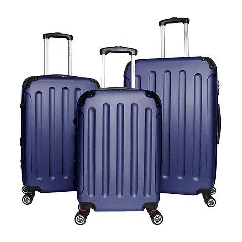 World Traveler Milan Collection 3-piece Hardside Spinner Luggage Set - Blue