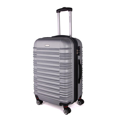 World Traveler California II Carry-On Hardside Spinner Luggage Set - Silver