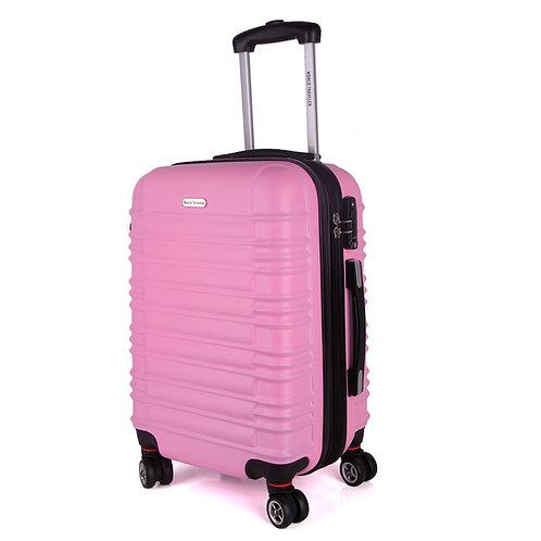 World Traveler California II Carry-On Hardside Spinner Luggage Set - Pink