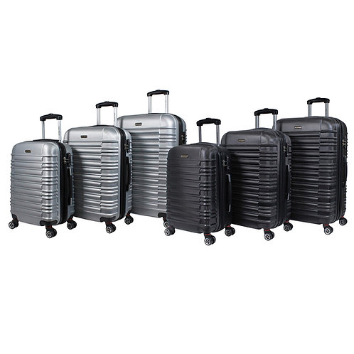 World Traveler California II Hardside 3-piece Expandable Spinner Luggage Set
