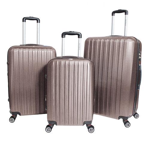 World Traveler Barcelona 3-piece Hardside Spinner Luggage Set - Champagne