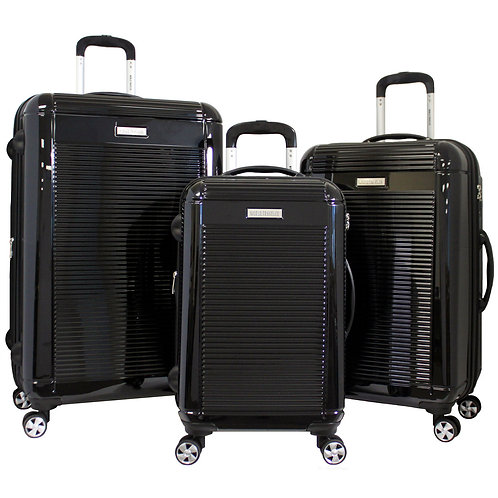 World Traveler Regal 3-piece Hardside Lightweight Spinner Luggage Set - Black