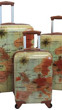 World Traveler Euro 3-piece Hardside Spinner Luggage Set