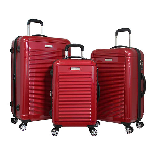 World Traveler Regal 3-piece Hardside Lightweight Spinner Luggage Set - Red