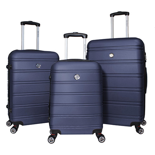 World Traveler Montreal 3-piece Expandable Hardside Spinner Luggage Set - Blue