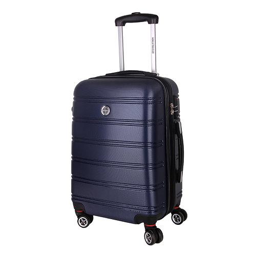 World Traveler Montreal Carry-On Hardside Spinner Luggage Set - Blue