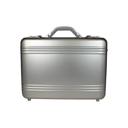 World Traveler European-Style Aluminum Silver Laptop Attache Case