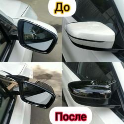 Установка обвеса - накладки на зеркала BMW G30