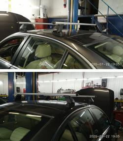 Установка багажника в штатное крепление на BMW E90