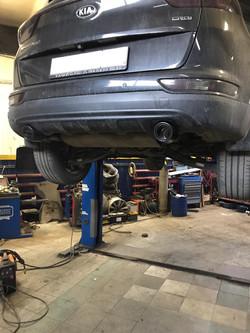 Раздвоение выхлопа на Kia Sportage