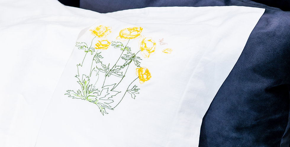 PILLOWCASE Sunny Flowers