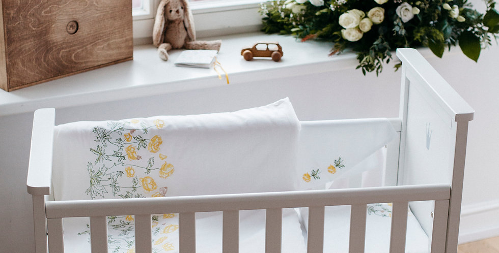 HERITAGE BABY BEDDING SET Sunny Flowers