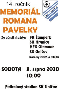 Pozvánka na memoriál Romana Pavelky