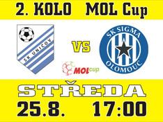 Ve 2. kole MOL Cupu přivítáme prvoligovou Sigmu Olomouc