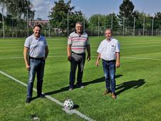 Areál fotbalového hřiště prošel další rekonstrukcí, hřiště II má nový trávník